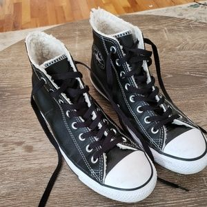 High top leather Converse Chuck Taylor